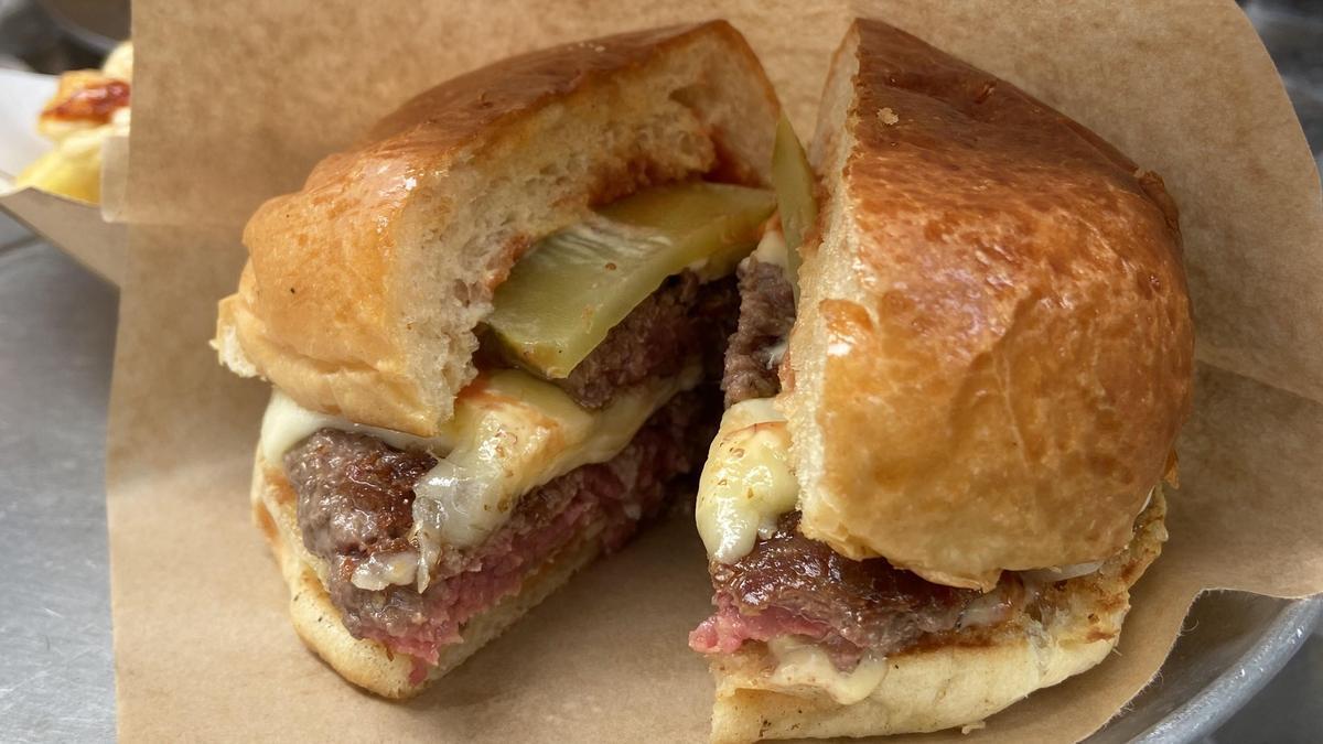 La hamburguesa del Bar Torpedo.