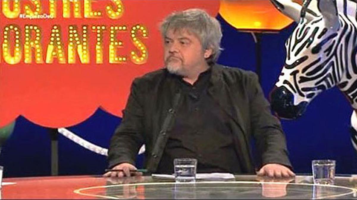 Javier Coronas, en el espacio 'Ilustres ignorantes', delcanal #0 deMovistar+.