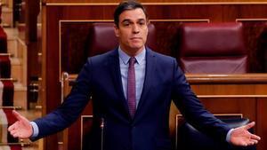 Pedro Sánchez, en el Congreso, en abril.