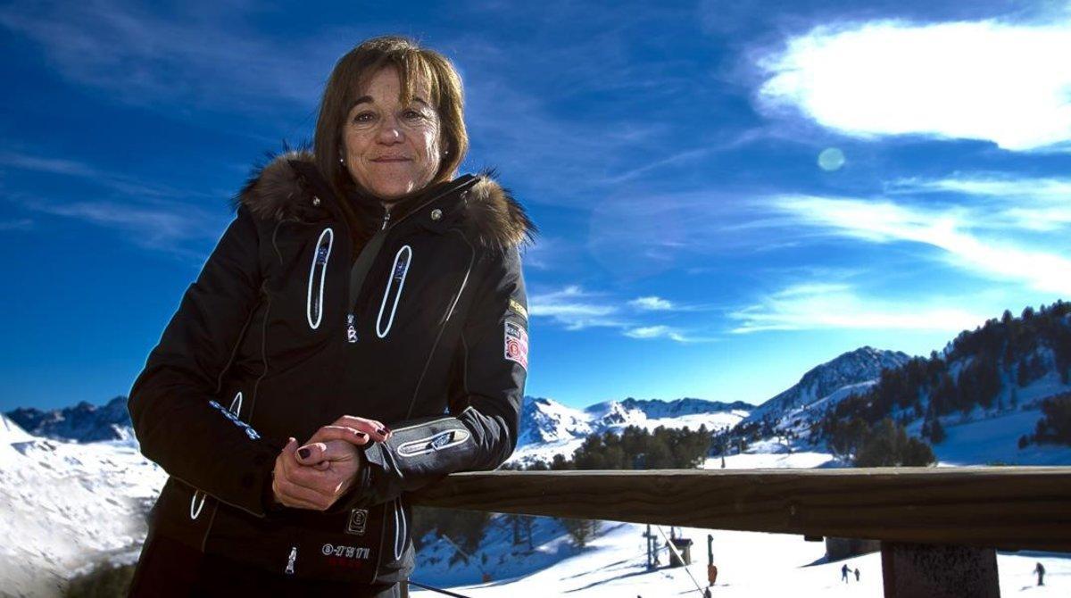 Blanca Fernández Ochoa, en un retrato del 2012, en las pistas de Soldeu.