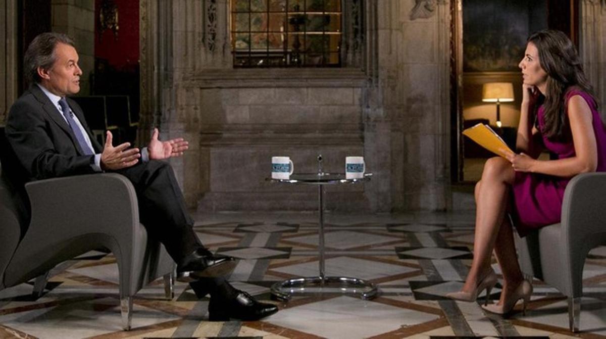 Ana Pastor entrevista a Artur Mas en 'El objetivo' de La Sexta.