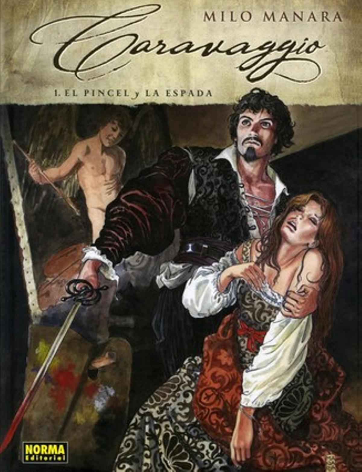 Portada de 'Caravaggio', de Milo Manara.