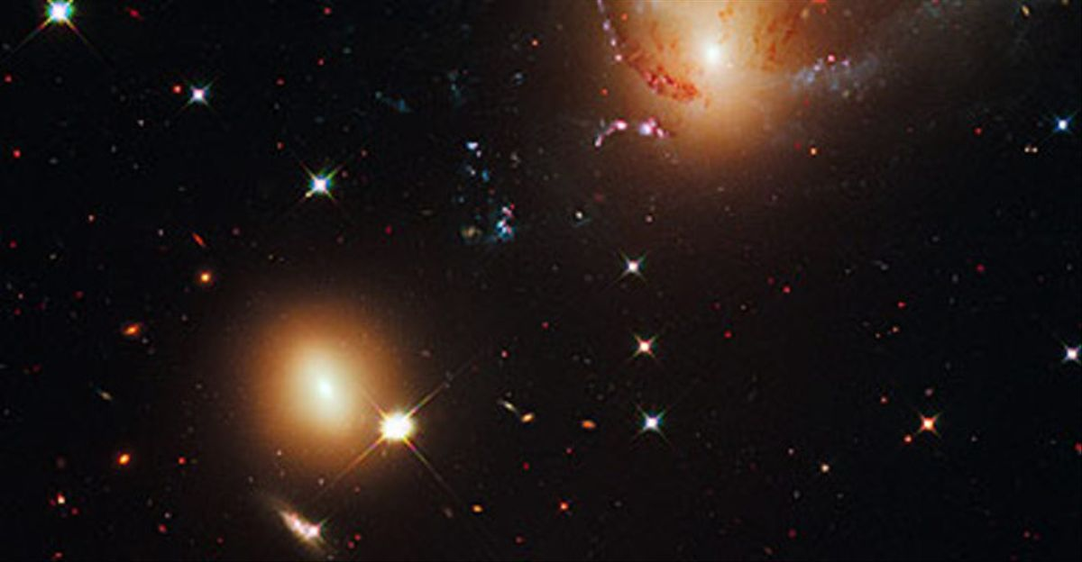 Estrellas y otras partículas del espacio.