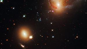 Estrelles i altres partícules de l'espai.