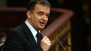 Alfred Bosch, en la tribuna del Congreso de los Diputados.