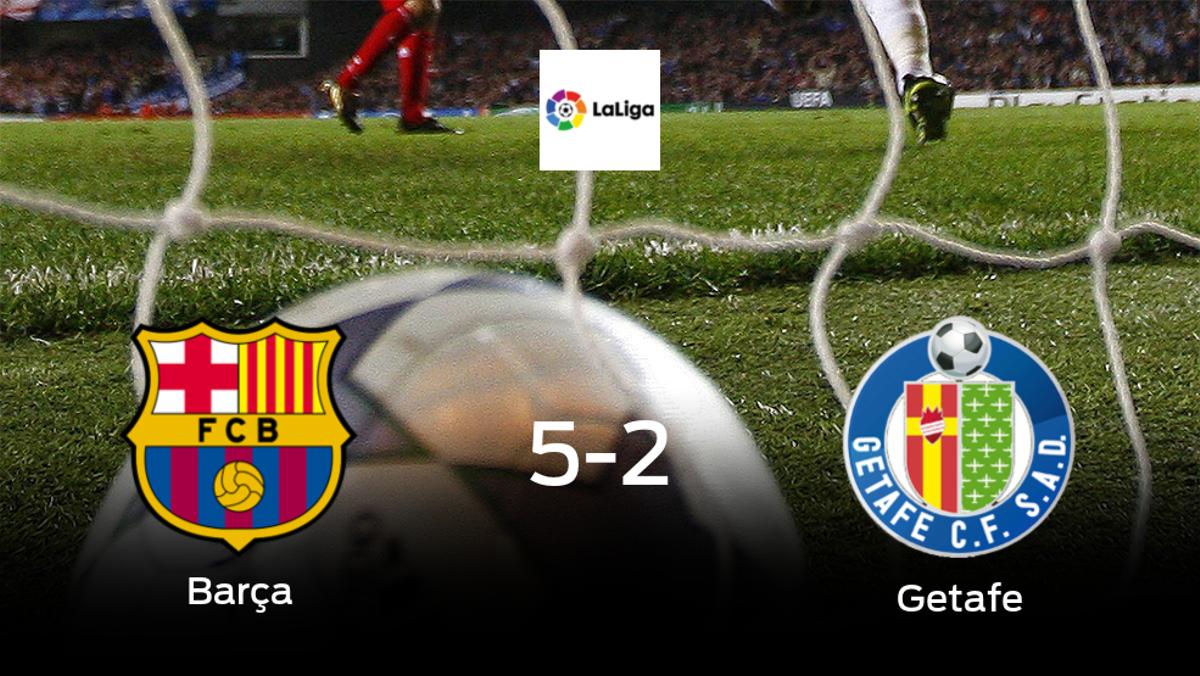 El Barcelona consigue los tres puntos en casa tras pasar por encima del Getafe (5-2)