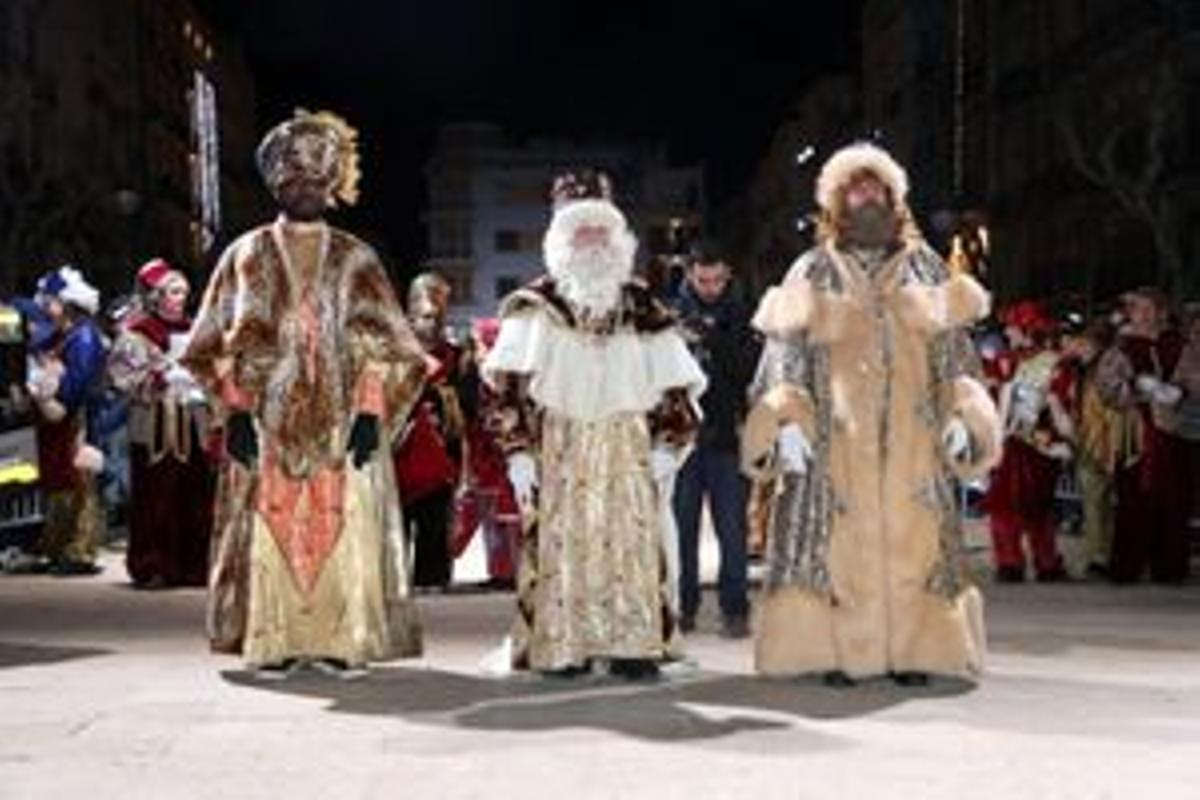 Los Reyes Magos, en una cabalgata del pasado mes de enero.