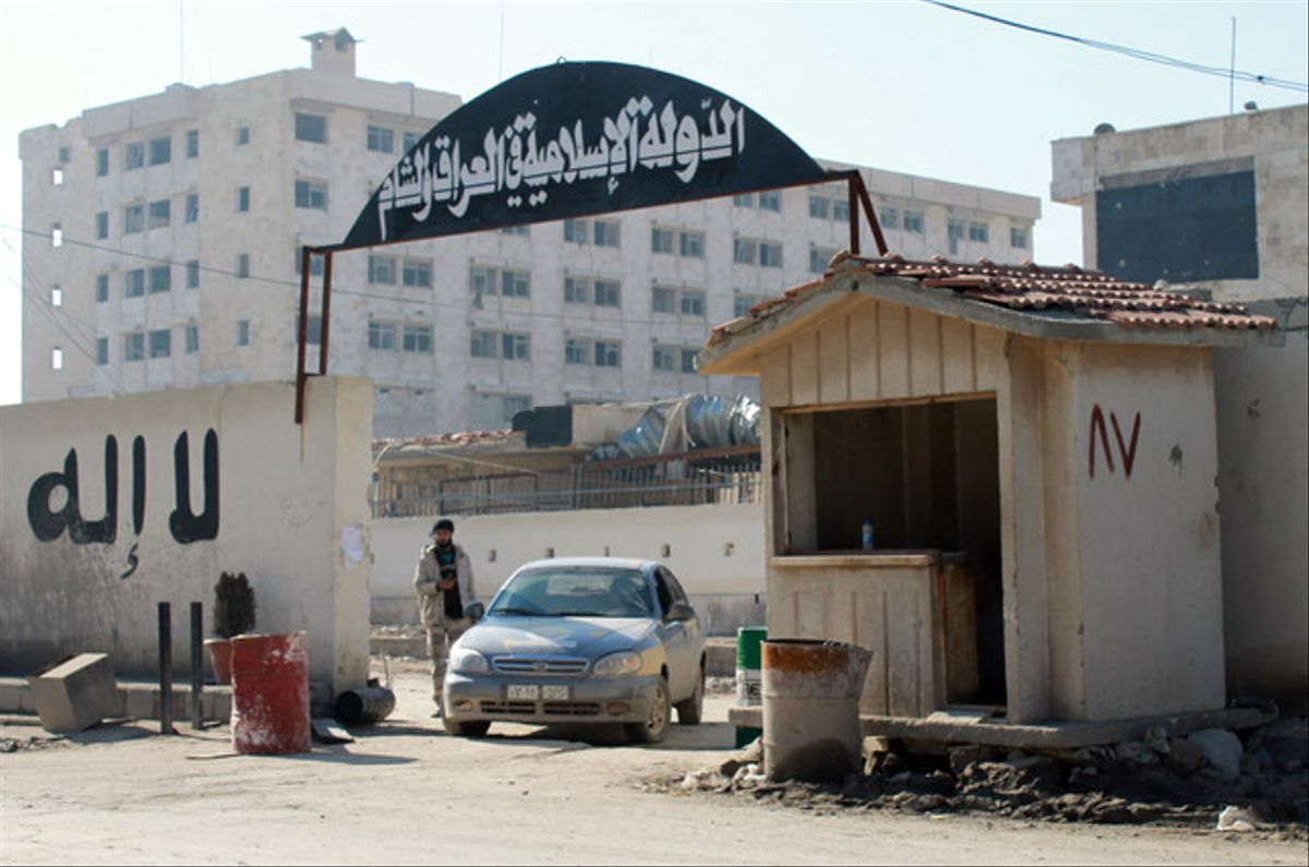 Esta es la cárcel del ISIL, precursor del Estado Islámico, en Alepo, donde pasó Marginedas el primer mes. Fue abandonada en enero del 2014, por los combates entre grupos rebeldes. Los internos fueron ejecutados.