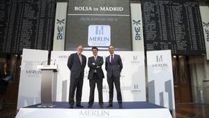 Representación de Merlin Properties en la Bolsa de Madrid.