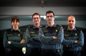 Miembros del Servicio de Análisis del Comportamiento de la Guardia Civil.