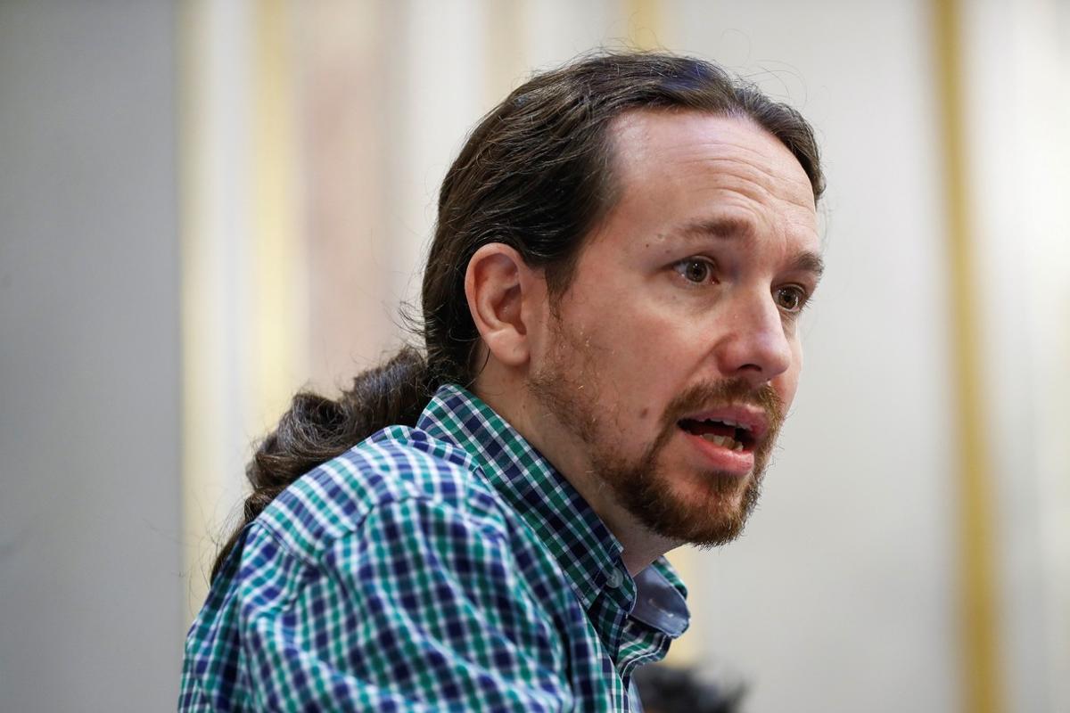 Pablo Iglesias, durante una rueda de prensa, en una foto de archivo.