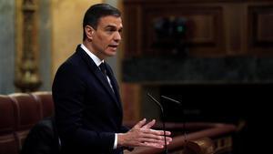 Pedro Sánchez, elmiércoles en el Congreso.