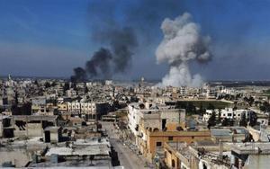 Bombardeos en el norte de Siria.