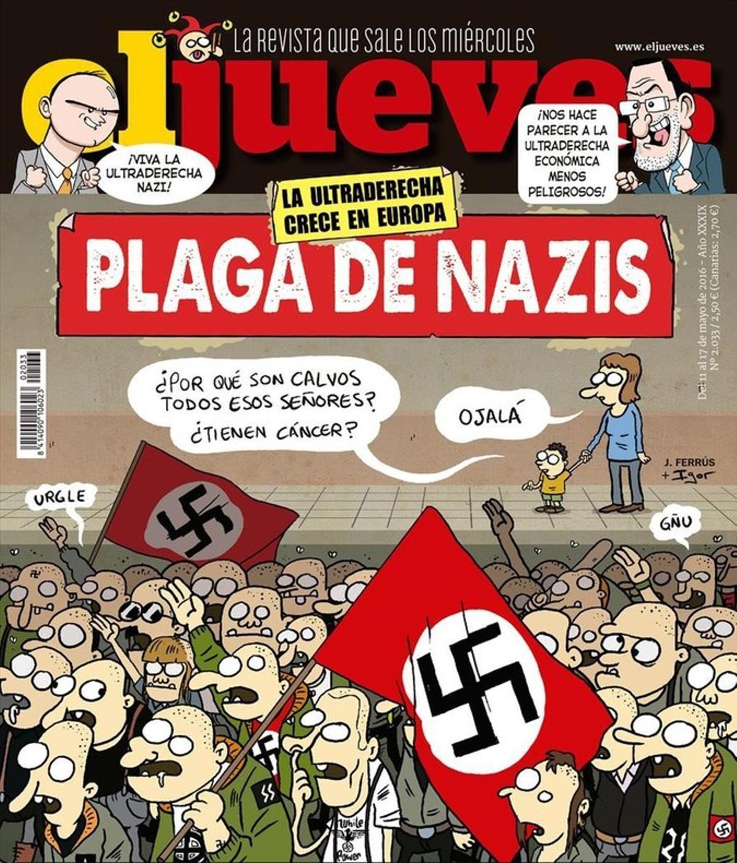 Agredida la directora de 'El Jueves' tras la publicación de una portada contra el auge del nazismo