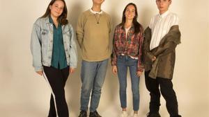 Joana Roche, Jun Komura, Alba Segarra y Pere Francès.