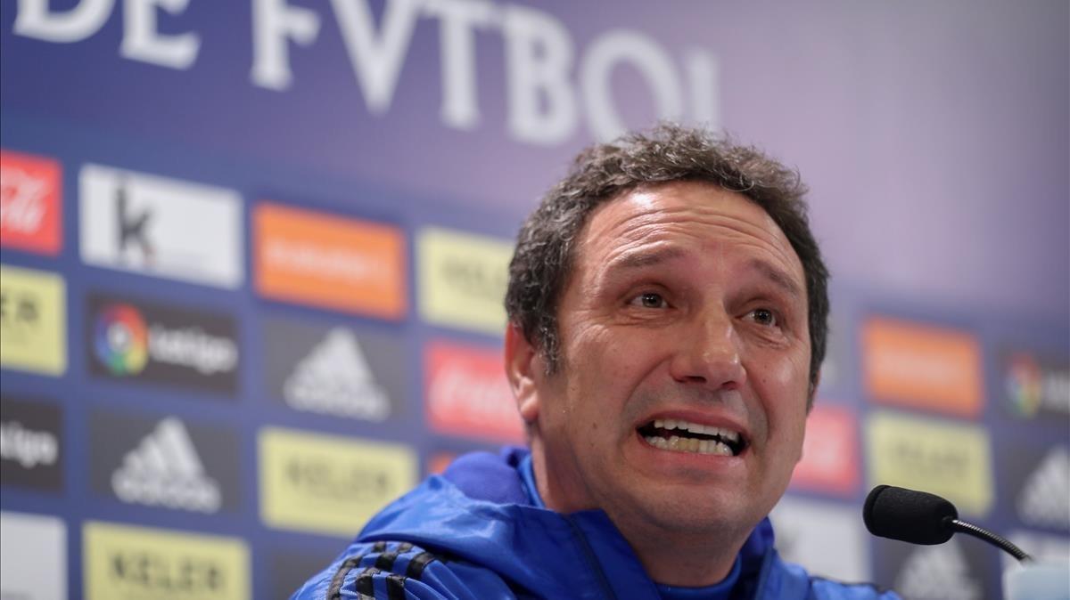 Eusebio Sacristán, en su etapa como técnico de la Real Sociedad.