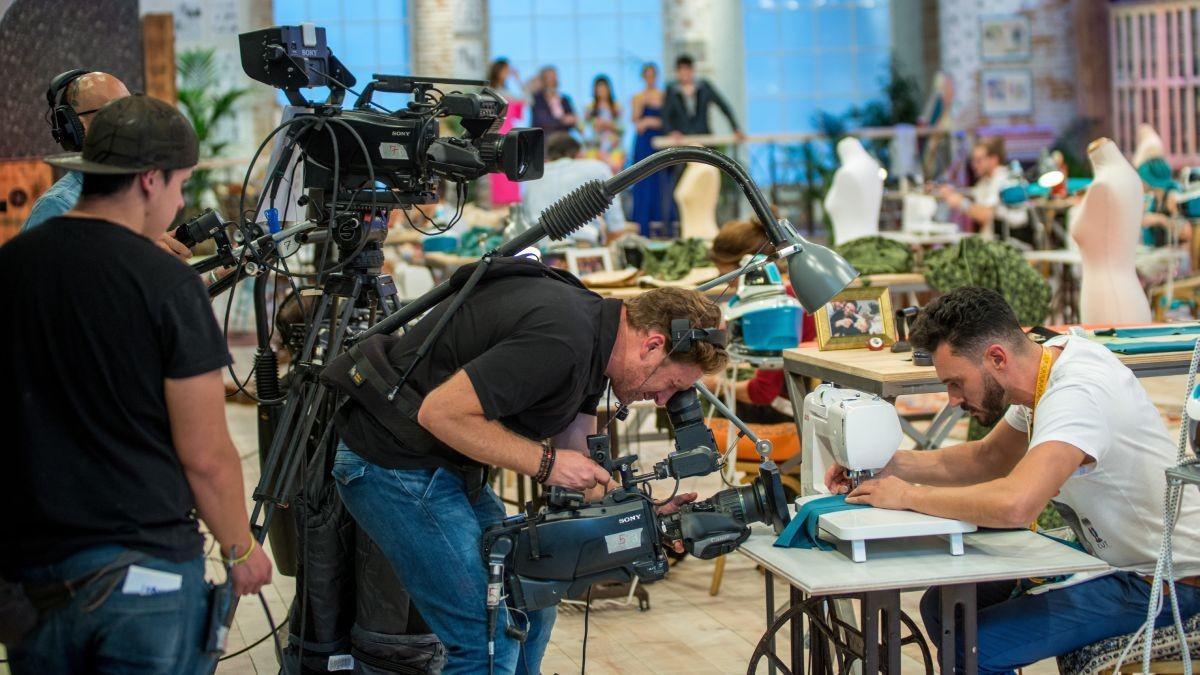 Grabación del primer programa de TVE 'Maestros de la costura'.