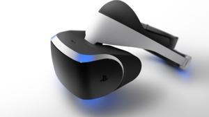 El casc de realitat virtual {Morpheus} de Sony.