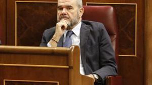 Manuel Chaves, en el Congreso, en febrero del 2015.