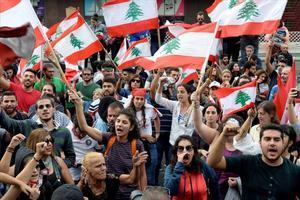 Manifestación en Beirut contra el Gobierno.