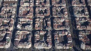 Vista aérea del Eixample.