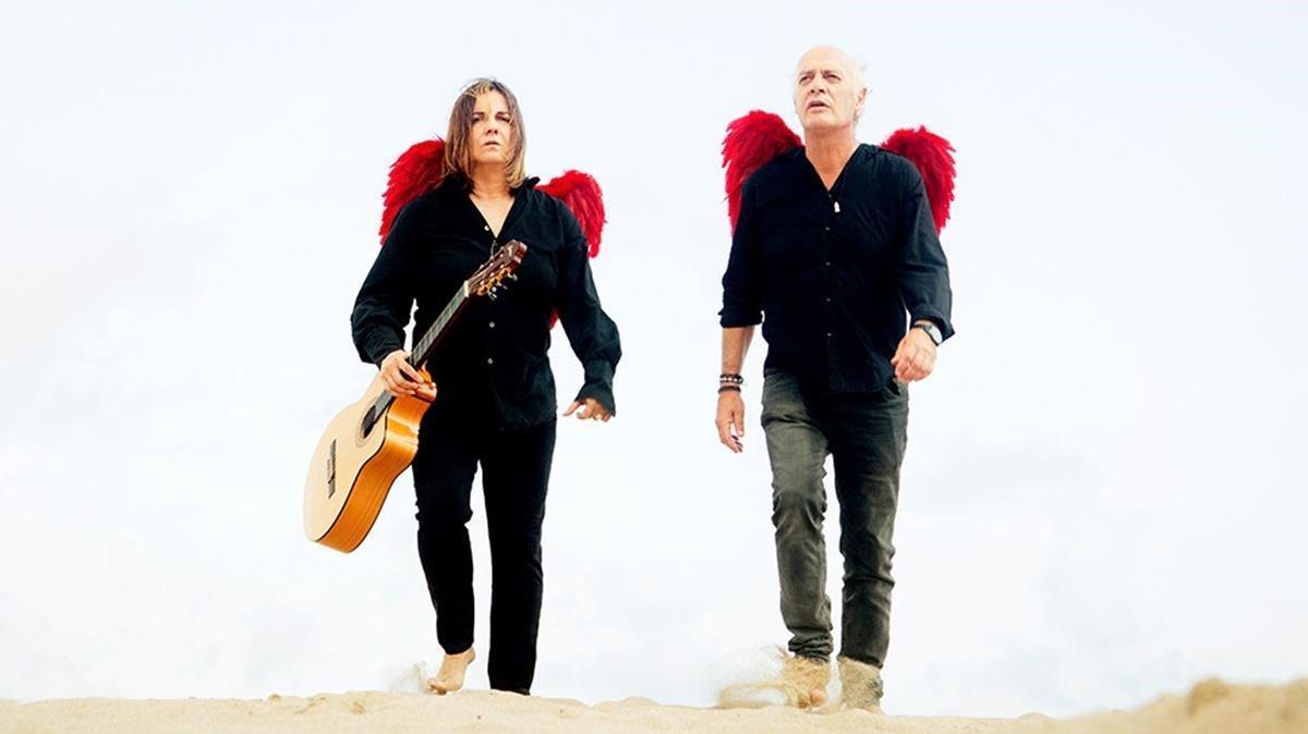 Imagen promocional de Joan Isaac y Sílvia Comes del homenaje a Silvio Rodríguez.