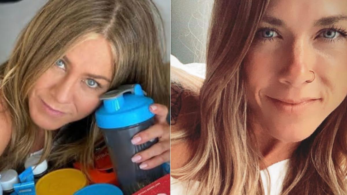 Jennifer Aniston, y su  'gemela' en TikTok, Lisa Tranel.