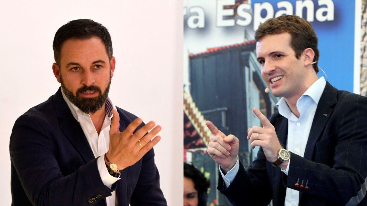 Santiago Abascal y Pablo Casado.