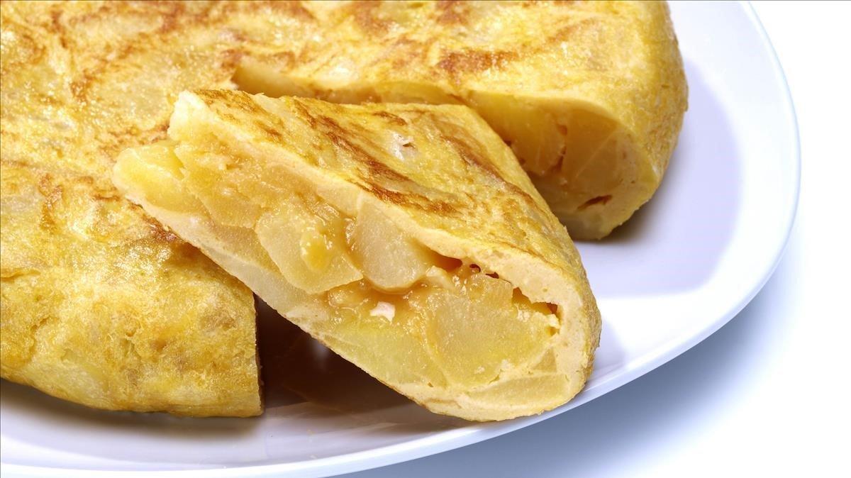 Una tortilla de patatas