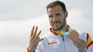 Saúl Craviotto en los JJOO de Rio con la medalla de bronce