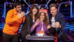 Los coaches de la segunda edición de 'La voz kids' en Antena 3.