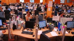 Sala de teleoperadores de una empresa.