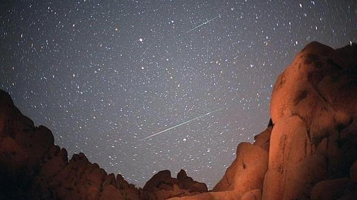 Una lluvia de meteoros.