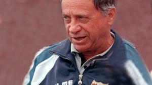 Joaquín Peiró en su etapa como entrenador del Málaga.