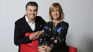 Ramon Gener y Gemma Nierga, presentadore de 'La Marató' de TV-3 del 2018.