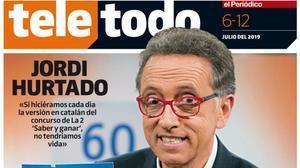 Portada de 'Teletodo' protagonizada por Jordi Hurtado.