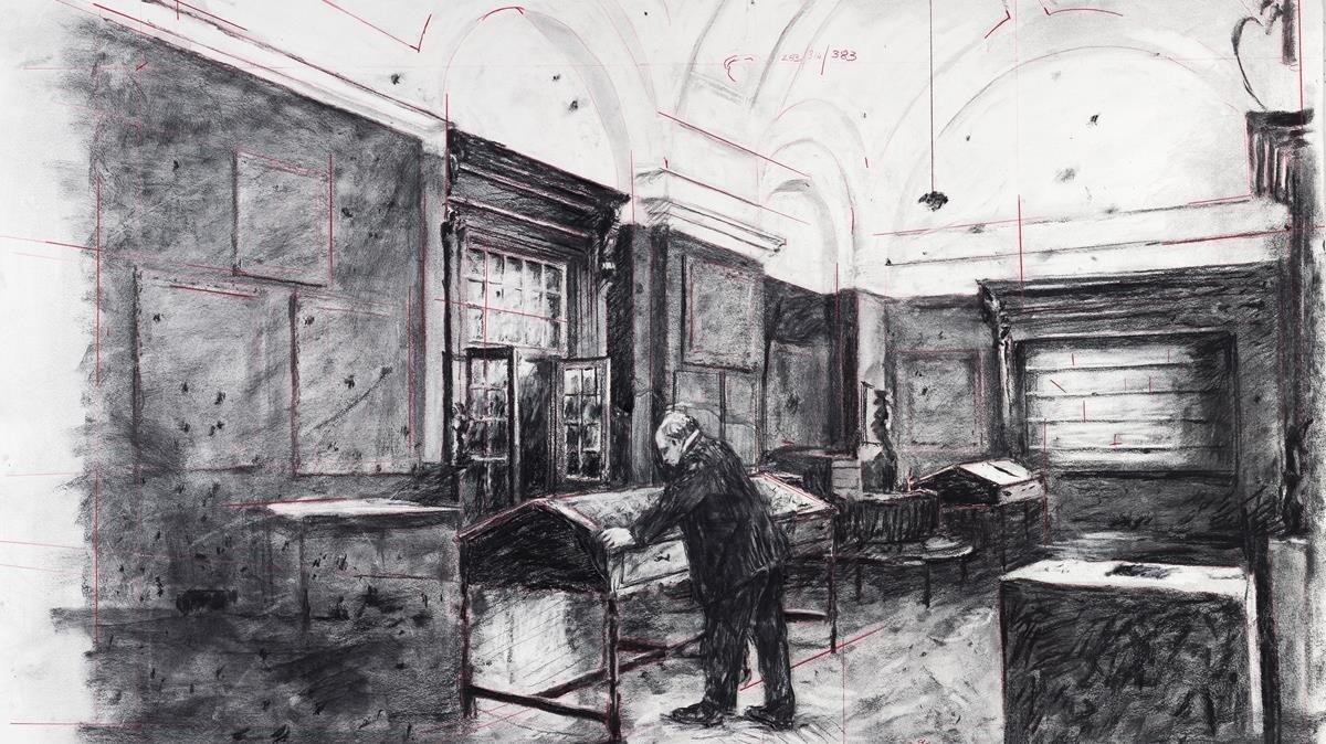 Un fotograma de 'City Deep', el último (hasta ahora) de los 'Drawings por Projection'.