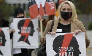Jornada de huelga de mujeres en Polonia por el veto judicial a algunos supuestos del aborto.