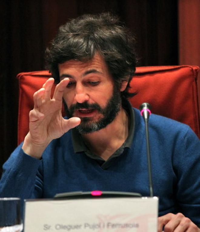 Oleguer Pujol Ferrusola, hijo del expresidente de catalán Jordi Pujol, durante su comparecencia en la comisión del Parlament.
