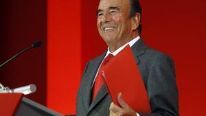 El presidente del Banco de Santander, Emilio Botín.