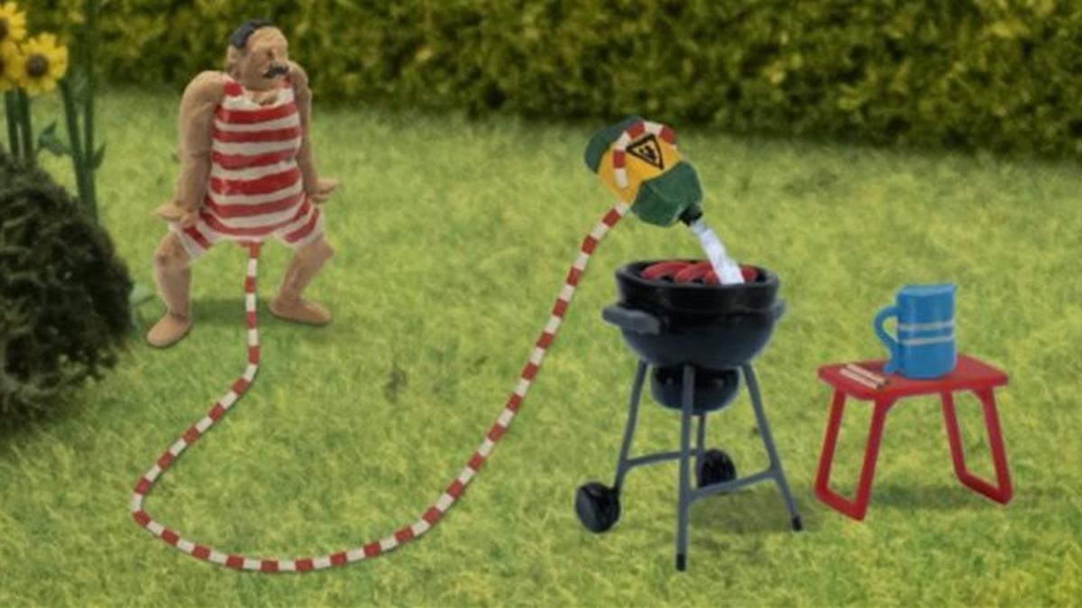 Una imagen de la serie de animación danesa 'John Dillermand'