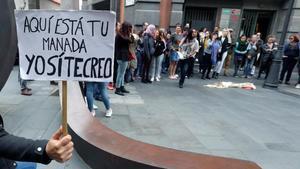 Manifestación contra la sentencia de 'La Manada' de Pamplona, en abril del 2018