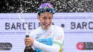 Miguel Ángel López, ganador de 2019, pero que este año no disputa la Volta al estar aún en fase de recuperación por la caída sufrida en el Giro.