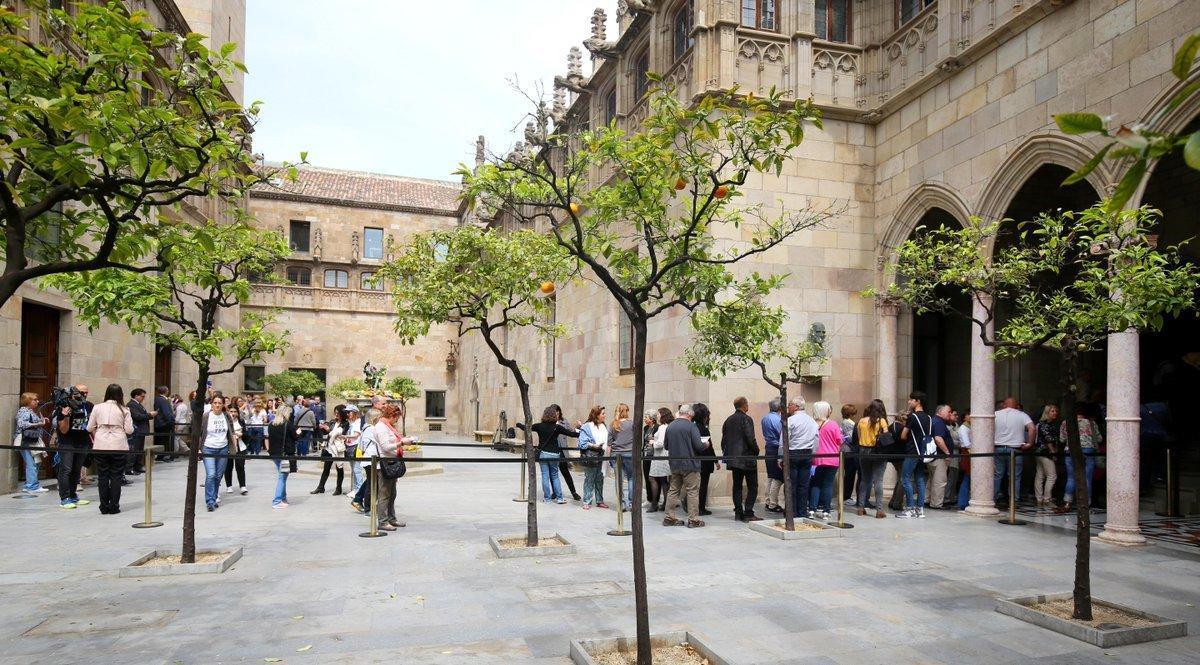 El Palau de la Generalitat celebra hoy una jornada de puertas abiertas.
