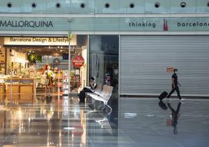 El Aeropuerto de Barcelona en plena pandemia.