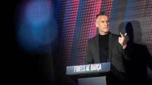 Lluís Carreras, director de fútbol de la precandidatura de Toni Freixa,  expone el programa y organigrama deportivo.