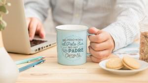 Taza con mensaje positivo, ideal para el Día del Padre.