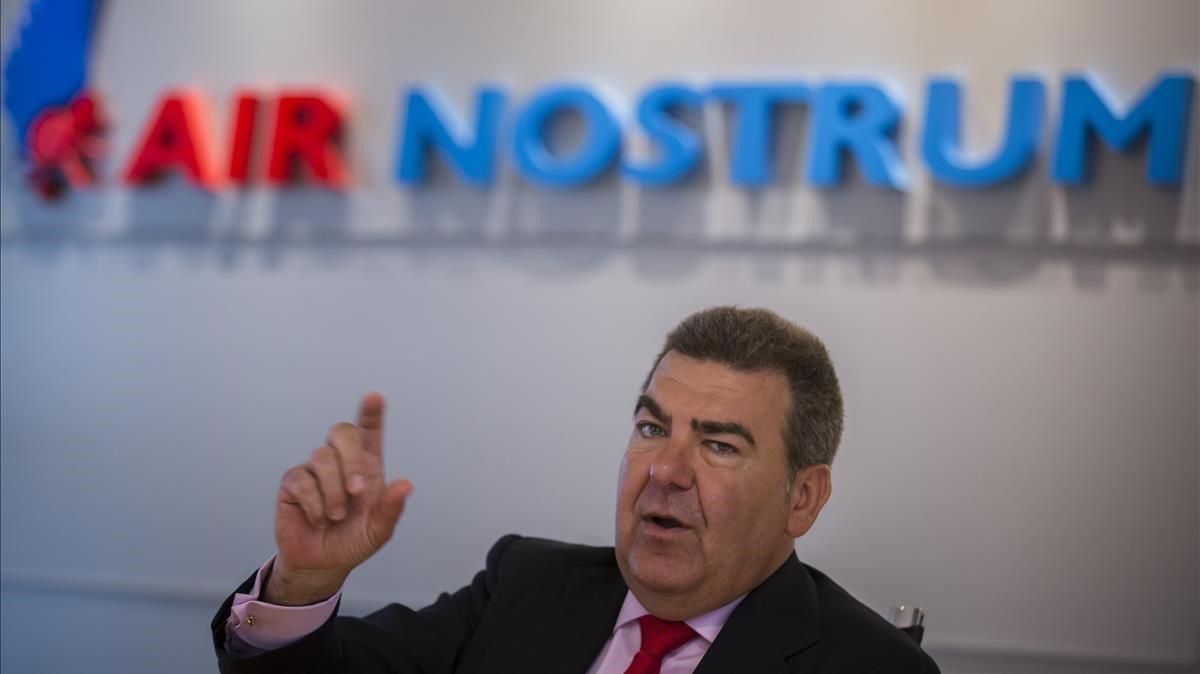 El presidente de Air Nostrum, Carlos Bertomeu, en una imagen de archivo.
