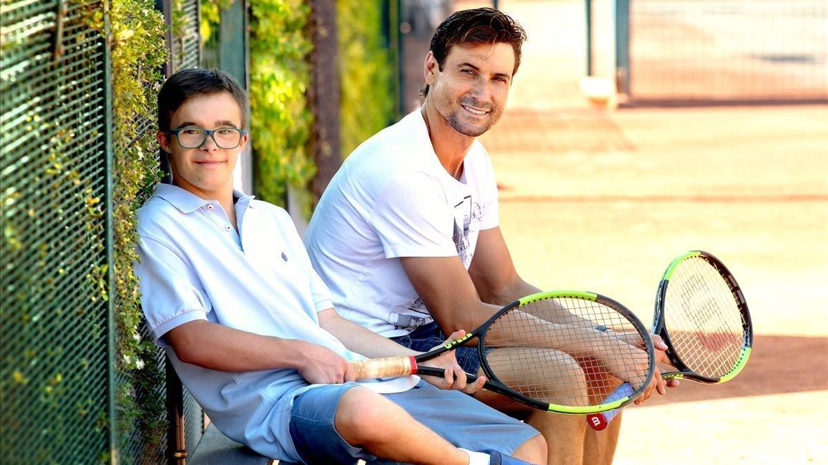 David Ferrer, con Manel.