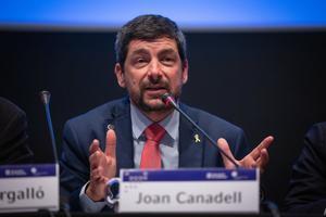 13/01/2020 Intervención del presidente de la Cámara de Barcelona Joan Canadell durante la presentación del estudio 'Inserción laboral de las enseñanzas profesionales 2019'